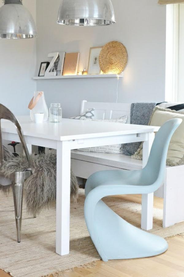 panton chair weiß designer stühle skandinavisches design