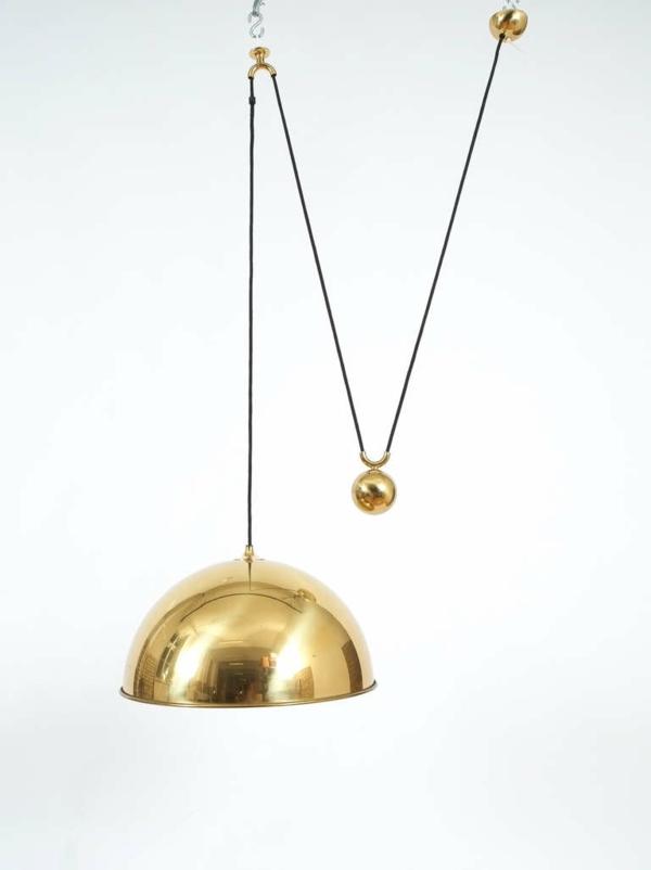 pendellampen und pendelleuchten höhenverstellbar led esstischleuchte gold