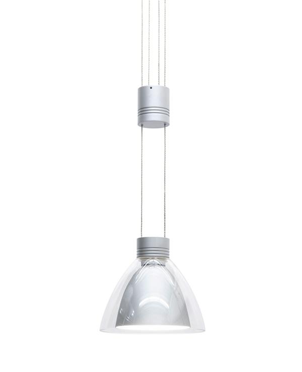 pendelleuchten höhenverstellbar silber glas möbeldesign