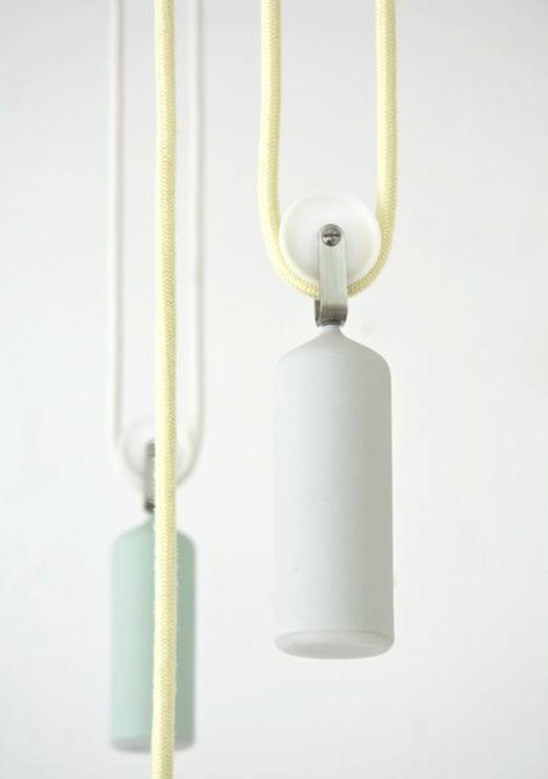 pendelleuchten höhenverstellbar weiß schlichtes design mechanismus