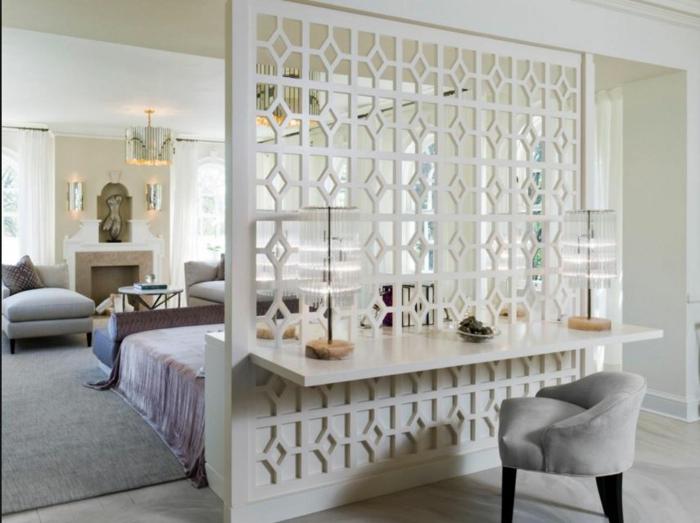raumtrenner ideen raumteiler vorhang raumteiler regal dekorativer trenner