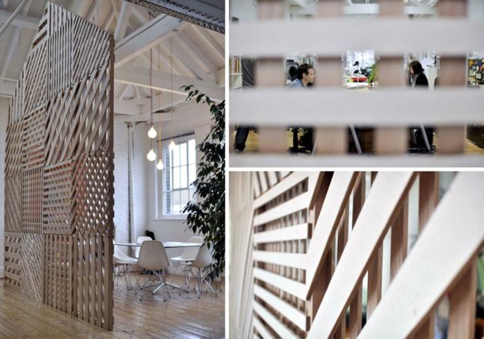 raumtrenner ideen raumteiler vorhang raumteiler regal weisse deko wand hoche wände