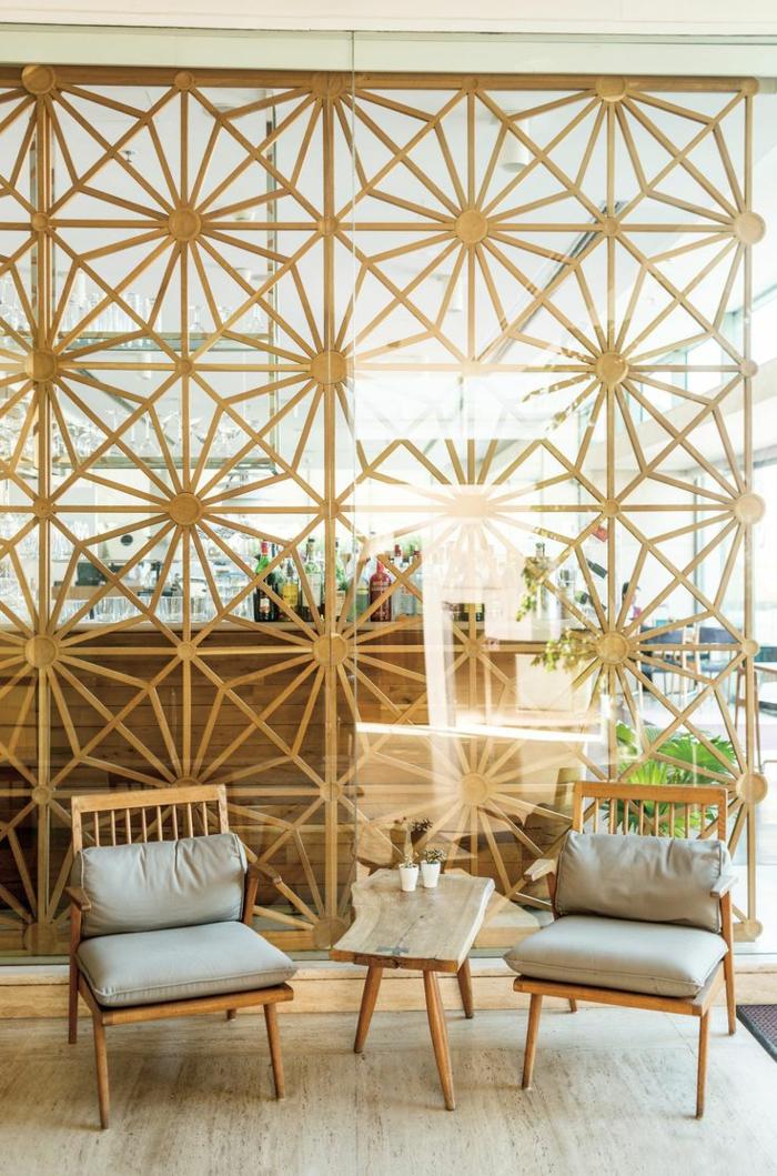 Holz Regal Als Raumteiler Idee Einrichtung Holz Regal Als
