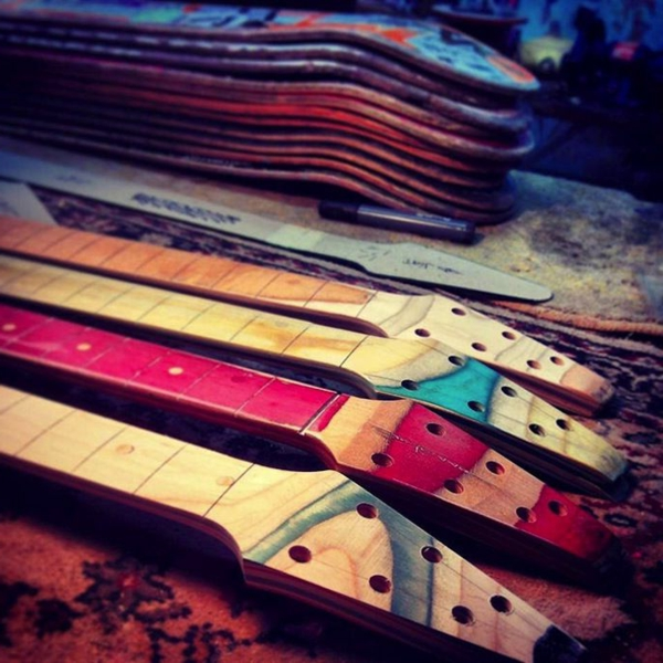 recycling art gitarre griffe