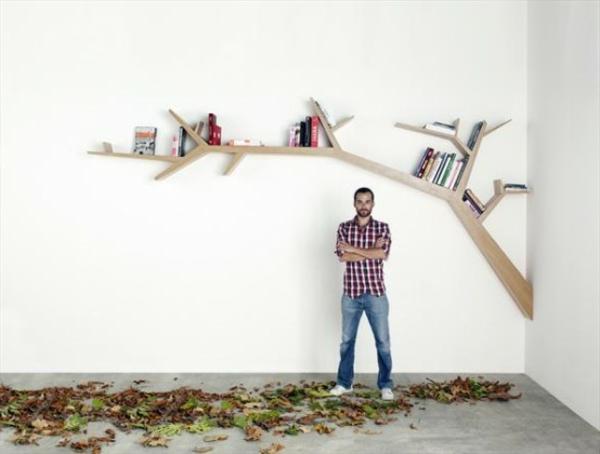 Полки Для Книг В Интерьере Фото