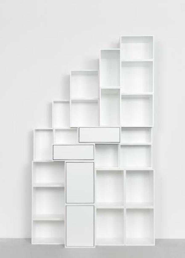 regale selber zusammenstellen rechteckig weiß