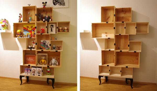 regale selber zusammenstellen tolle beispiele und. Black Bedroom Furniture Sets. Home Design Ideas