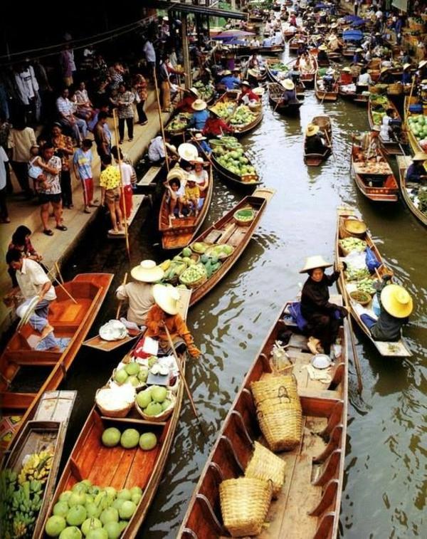 reise nach thailand rundreise fluss markt
