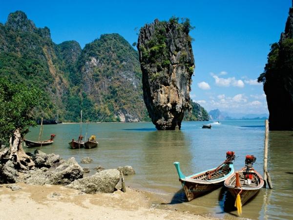 reise nach thailand rundreise schöne naturbilder thailand inseln james bond inseln
