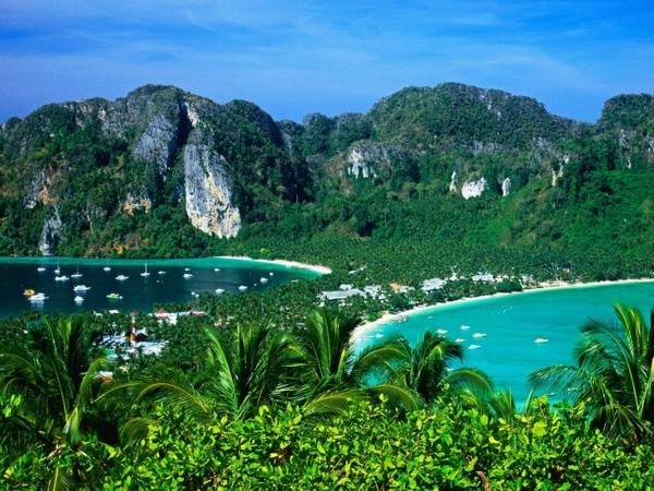 reise nach thailand rundreise schöne naturbilder thailand inseln ko phi phi