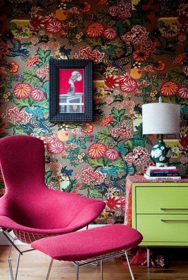 retro tapeten sind wieder im trend. Black Bedroom Furniture Sets. Home Design Ideas