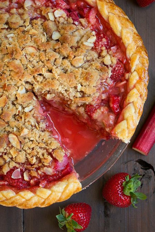 rhabarber kuchen erdbeeren zopf