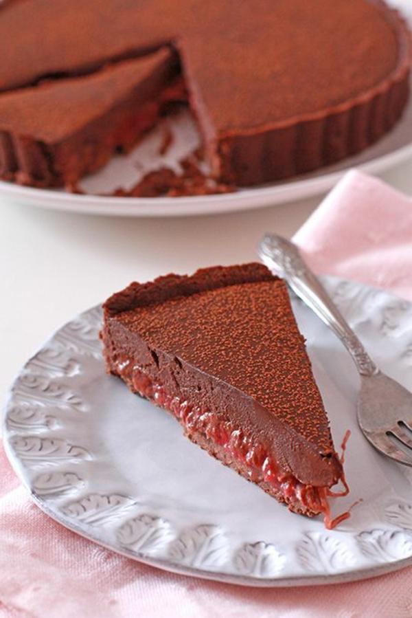 rhabarberkuchen schokoladenkuchen
