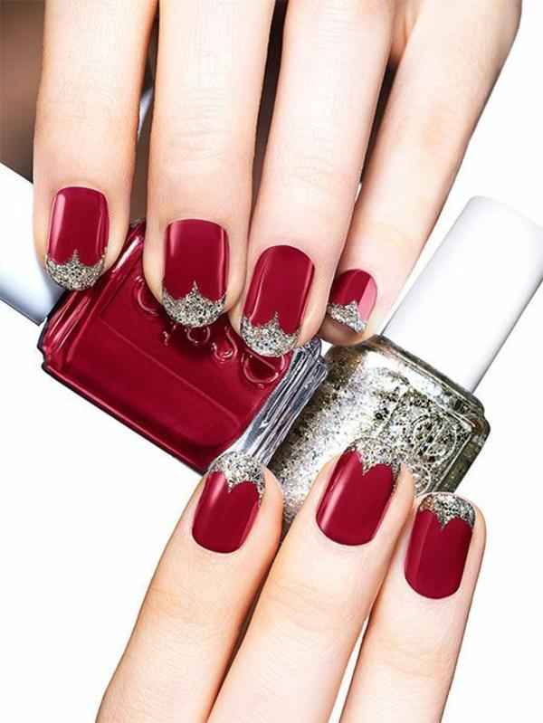 rote Gelnägel zu Weihnachten rote fingernägel bilder schein