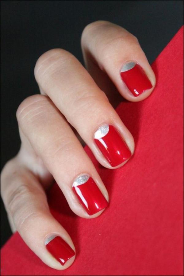 rote Gelnägel zu Weihnachten rote fingernägel motive bilder