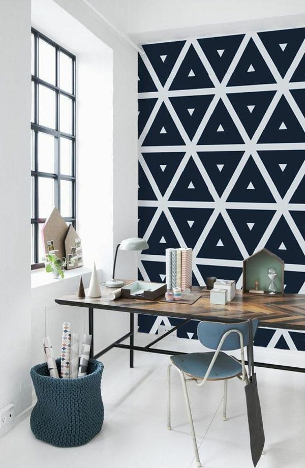 Schöne Tapeten Schwarz Weiß Motive Geometrisch
