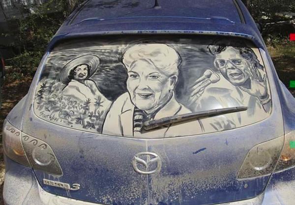 schmutzige autos kunst staub gemälde berühmt