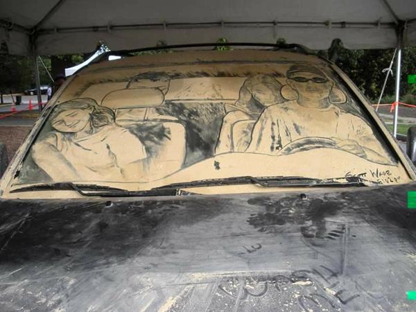 schmutzige autos kunst staub gemälde fahrt