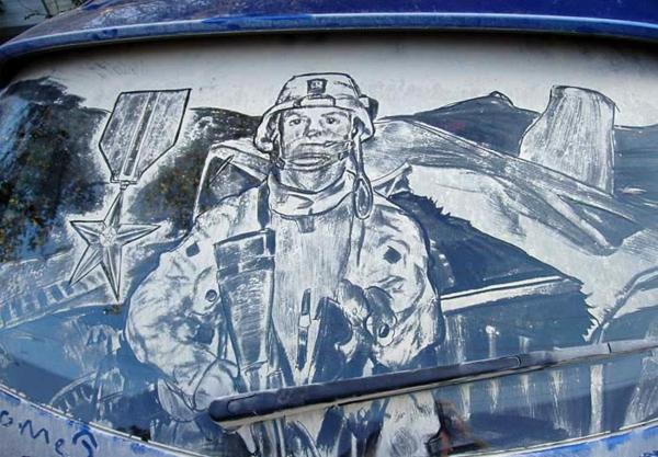 schmutzige autos kunst staub gemälde flugzeug