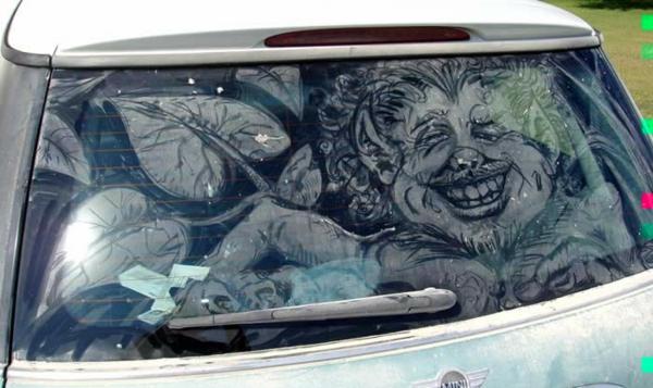 schmutzige autos kunst staub gemälde hässlich