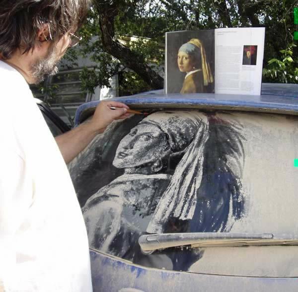 schmutzige autos kunst staub gemälde idee