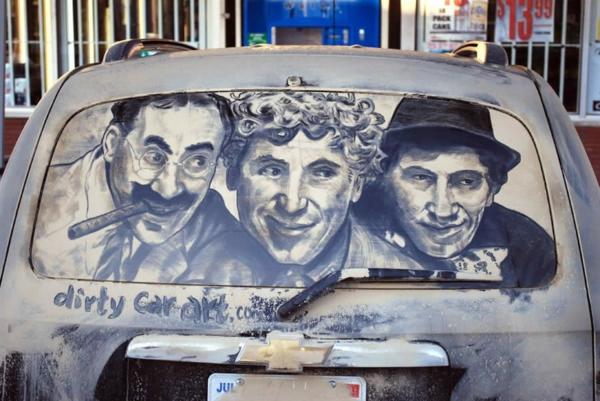 schmutzige-autos kunst staub gemälde modern