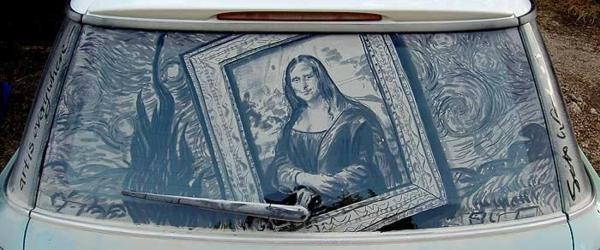 autos kunst staub- gemälde mona lisa