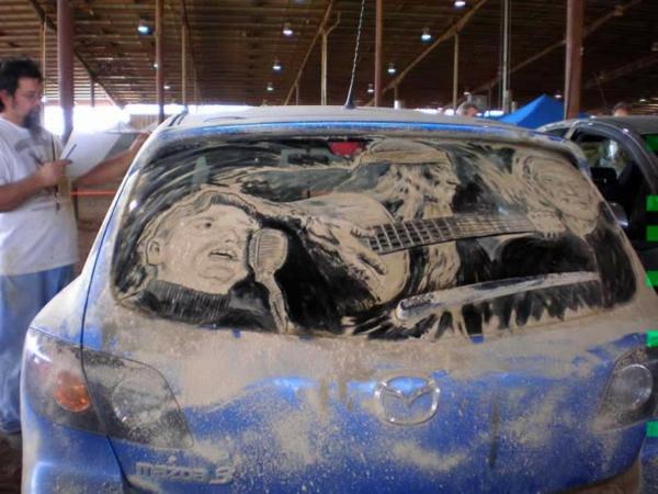 schmutzige autos kunst staub gemälde musik
