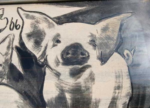 schmutzige autos kunst staub gemälde schwein