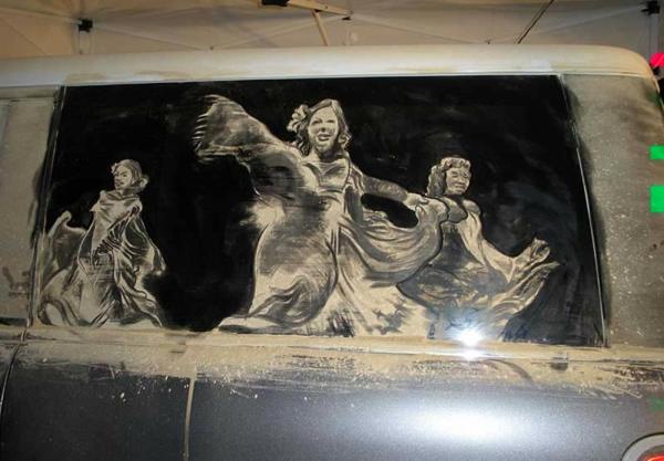 schmutzige autos kunst staub gemälde tanzen