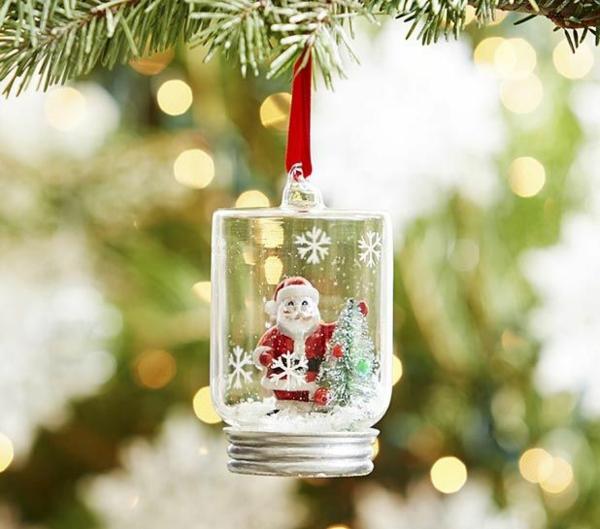 schneekugel basteln weihnachtsbaumschmuck selbstgemachte geschenke