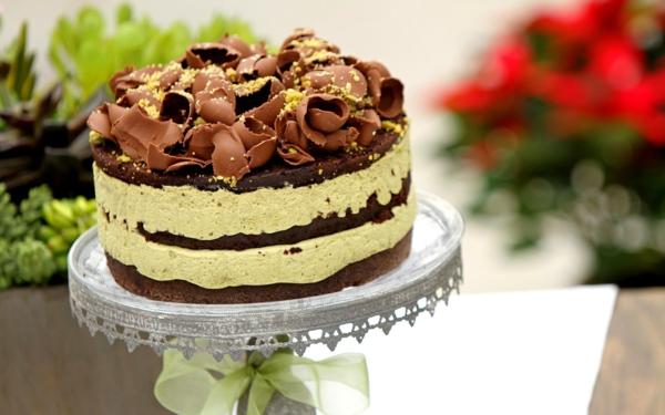schokoladen kuchen schokoraspeln pistazien
