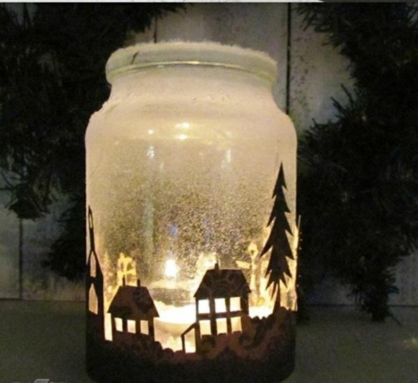 Geschenke Weihnachten Winter Dorf