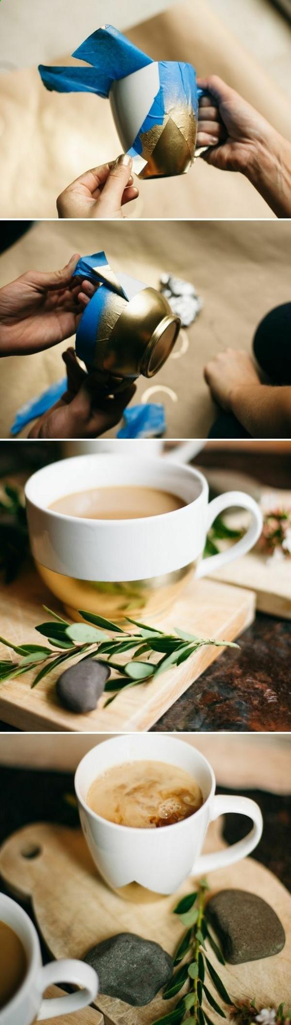 selbst gemachte weihnachtsgeschenke ideen kaffee tasse