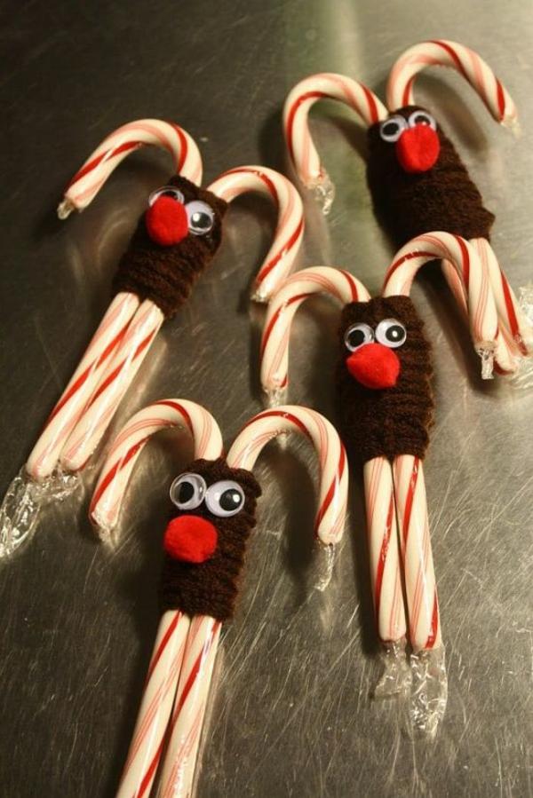 selbst gemachte weihnachtsgeschenke ideen lustige rentiere