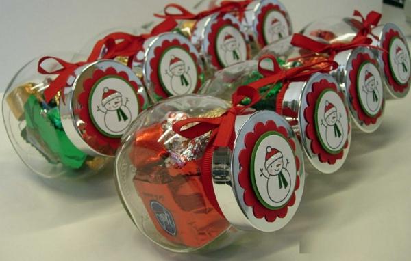 selbstgemachte weihnachtsgeschenke ideen schneemänner