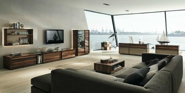 sisal teppich offener wohnplan panoramafenster