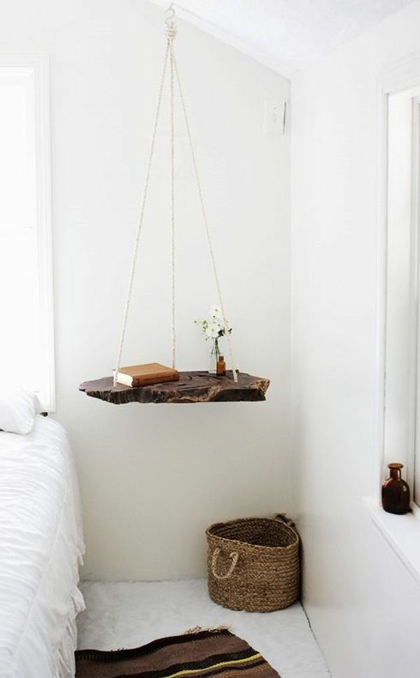 skandinavisch weiß schlafzimmereinrichtung wohnen hängend regal