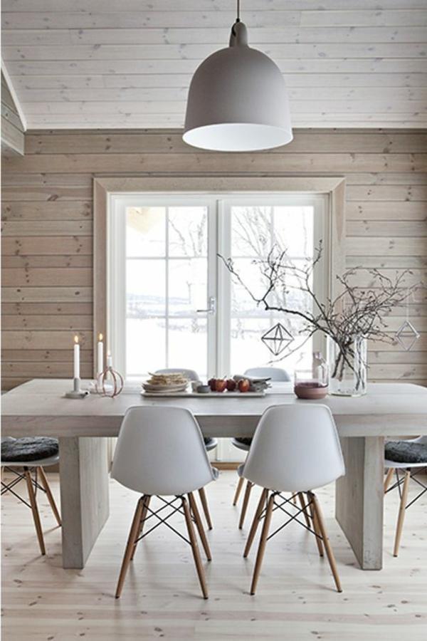 Esszimmer skandinavischer stil  Skandinavische Möbel im Wohnzimmer - inspirierende Einrichtungsideen