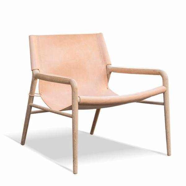 skandinavische möbel designerstühle holz und leder