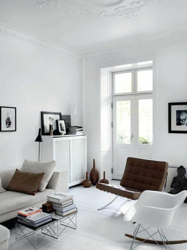 Skandinavische m bel im wohnzimmer inspirierende einrichtungsideen - Deco interieur wit ...