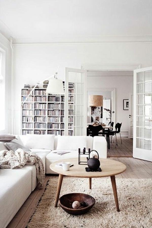 modern wohnzimmer möbel:skandinavische möbel holz couchtisch wohnzimmer modern einrichten