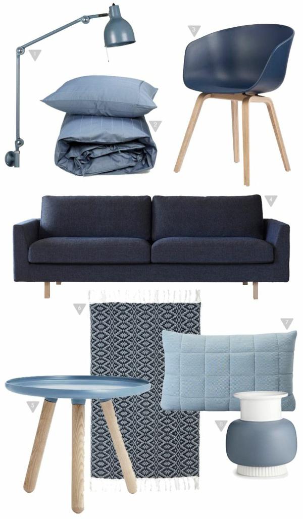 skandinavische möbel in blau designer möbel
