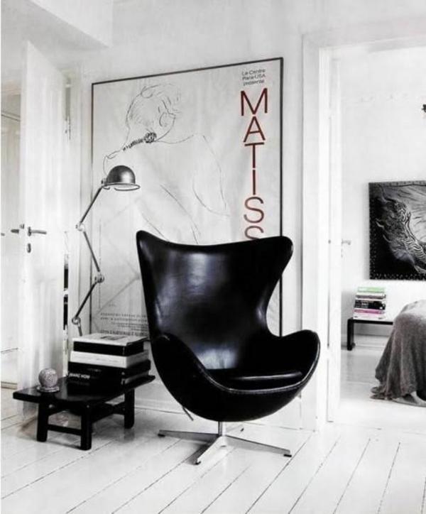 skandinavische möbel online schwarz sessel