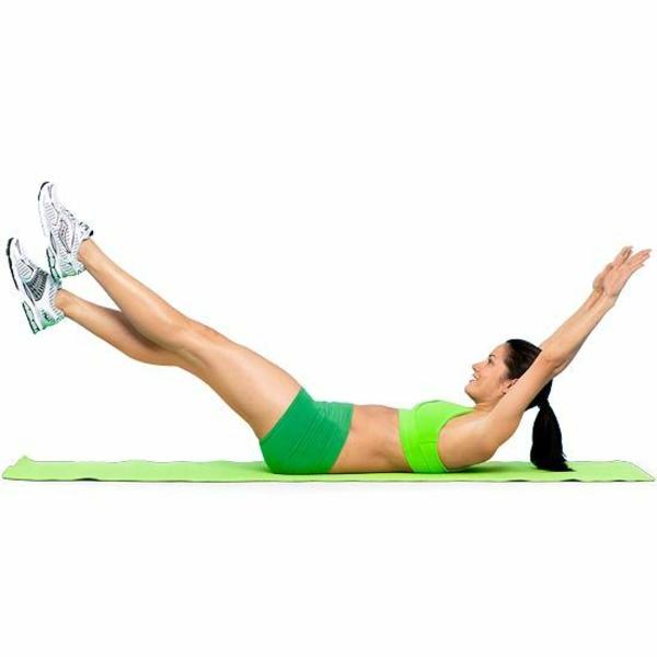 sportübungen zum abnehmen bauch