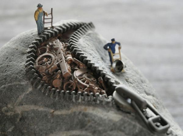 stein skulpturen arbeiter mechanische teile