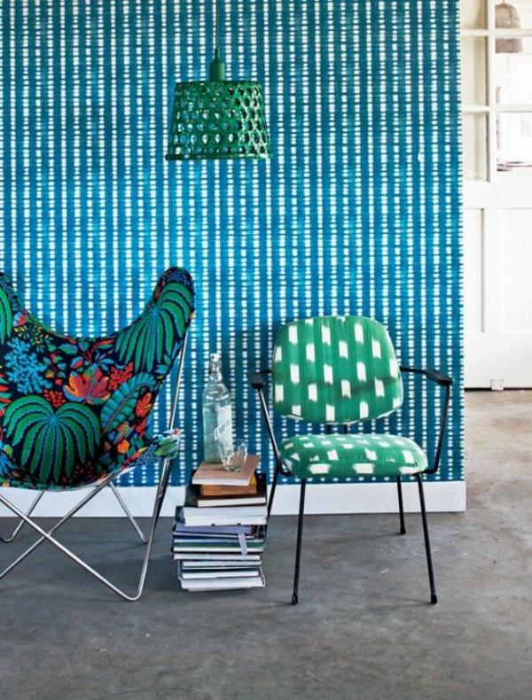 tapete steinoptik wandtapeten blau kühn sofa sessel
