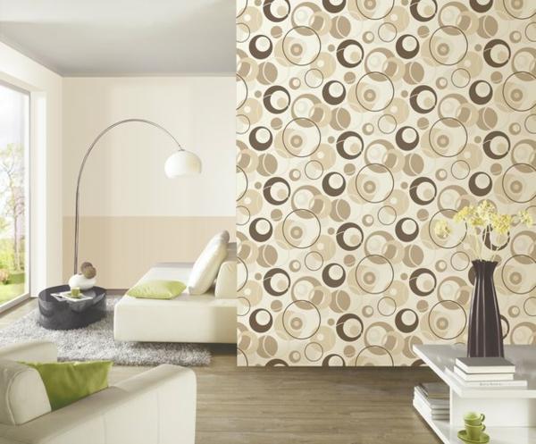 tapete steinoptik wandtapeten braun beige wohnzimmer