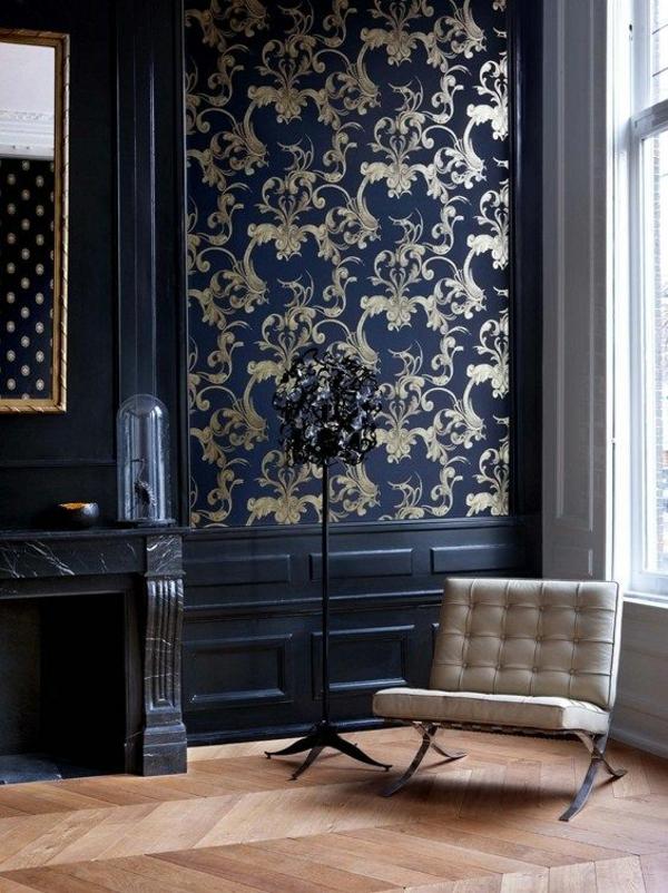 tapete steinoptik wandtapeten klassisch sofa