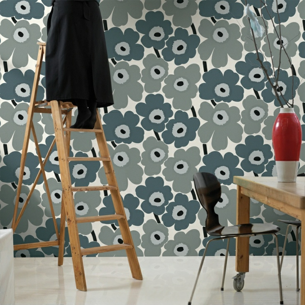 Wandtapeten In Steinoptik : steinoptik wandtapeten tapete marimeko stil